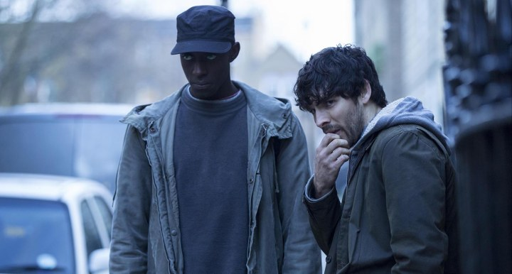L-R Ivanno Jeremiah (Max) and Colin Morgan (Leo)